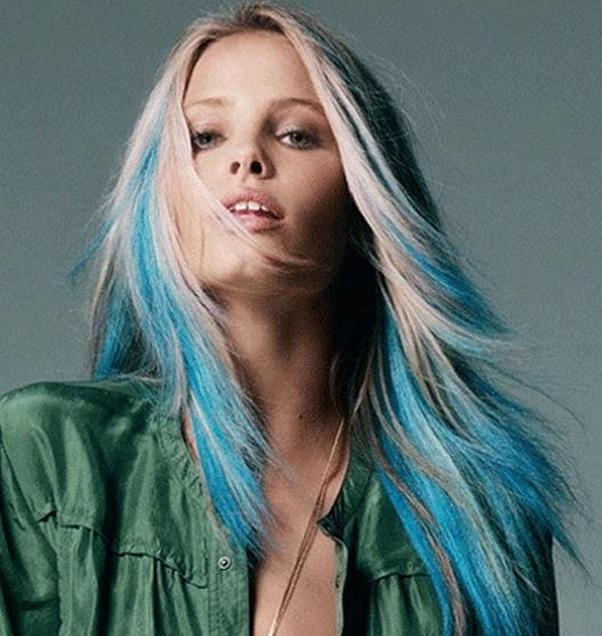 блонд с голубым