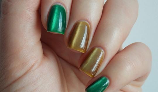 зеленый и бирюзовый