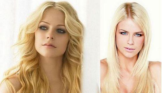 девушка блонд