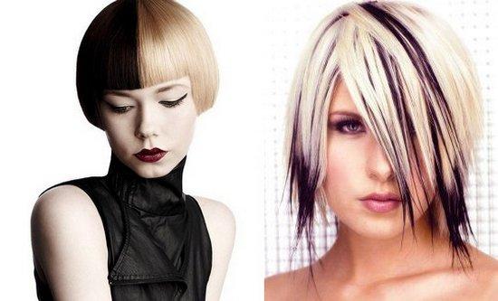 Цвет волос из черного в белый