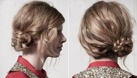 пучок и коса 2 в 1