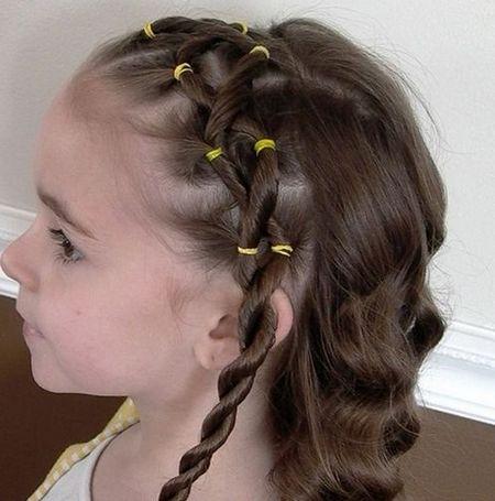 Фото причесок на средние волосы с челкой для детей