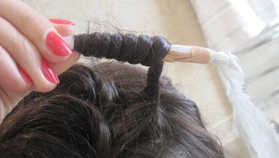 Как на бумагу накрутить волосы