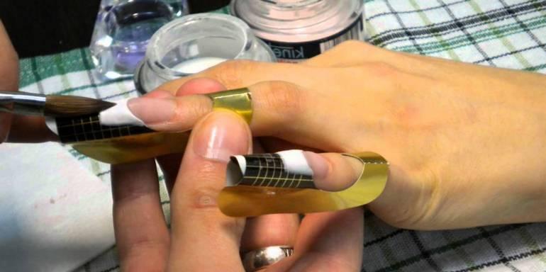 Наращивание акрилом в домашних условиях для начинающих пошагово с