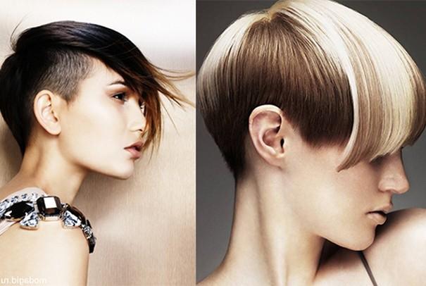 ассиметричные стрижки с выбритым виском фото женские