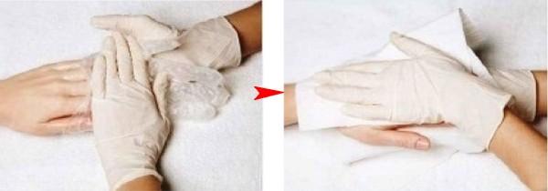 промокнуть тканью
