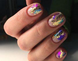 Как пользоваться фольгой для ногтей для создания дизайна маникюра